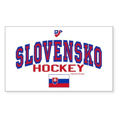 SK Slovakia Slovensko Hockey Sticker (Rectangle)