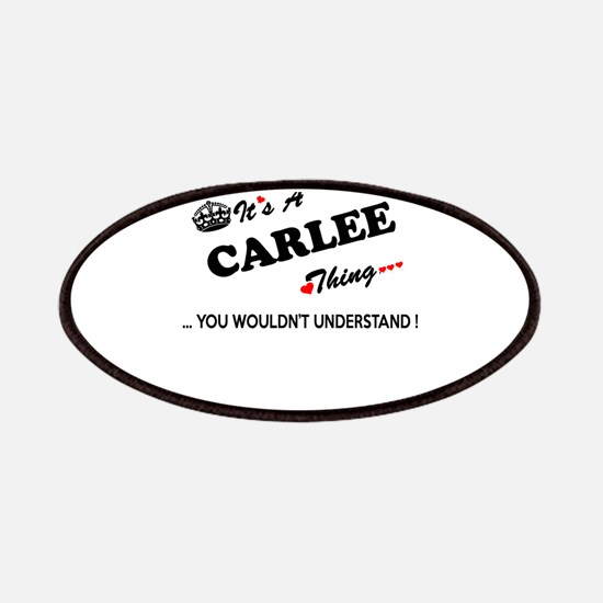 CARLEE thing, you wouldn't understand Patch