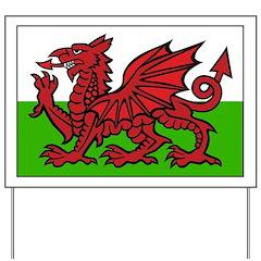 Welsh Flag Yard Sign