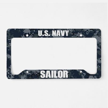 U.S. Navy Sailor Camo License Plate Holder License Plate Frame