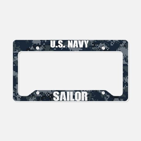 U.S. Navy Sailor Camo License Plate Frame License Plate Frame
