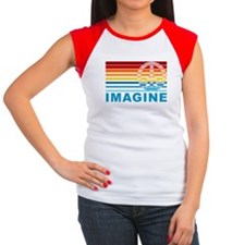 Imagine Peace Women's Cap Sleeve T-Shirt