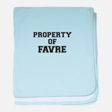 Property of FAVRE baby blanket