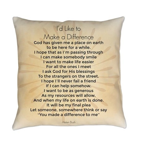 I'd Like to Make a Difference Pillow