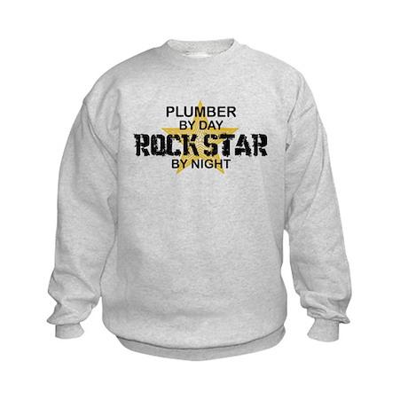 Plumber RockStar by Night Kids Sweatshirt