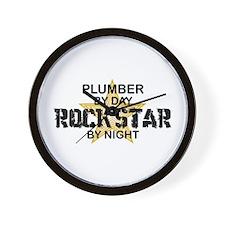 Plumber RockStar by Night Wall Clock