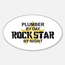 Plumber RockStar by Night Oval Decal