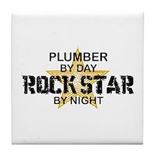 Plumber RockStar by Night Tile Coaster