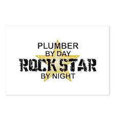 Plumber RockStar by Night Postcards (Package of 8)