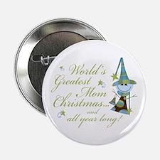 "Greatest Mom Christmas 2.25"" Button"