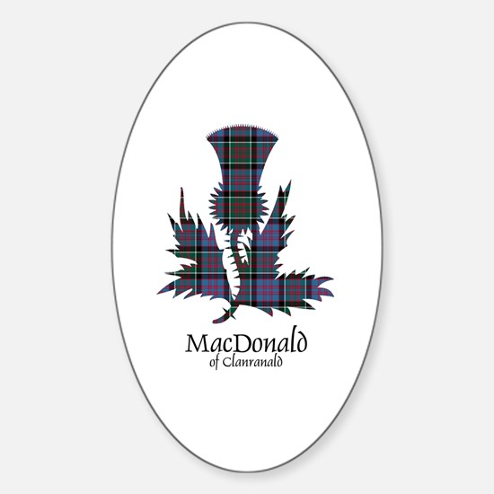 Thistle-MacDonald of Clanranald Sticker (Oval)