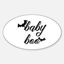 Funny Baby bats Sticker (Oval)