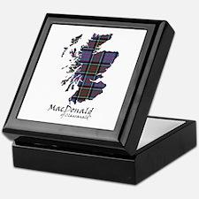 Map-MacDonald of Clanranald Keepsake Box