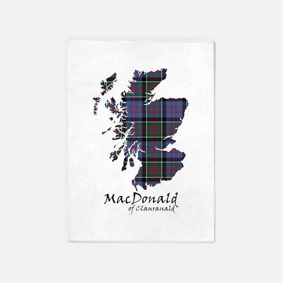 Map-MacDonald of Clanranald 5'x7'Area Rug