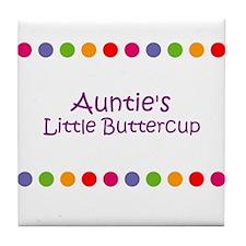 Auntie's Little Buttercup Tile Coaster