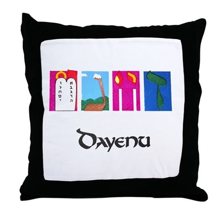 """Dayenu"" Passover Throw Pillow"