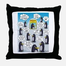 Penguin of the Month Throw Pillow