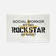Social Worker Rock Star Rectangle Magnet