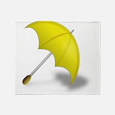 Yellow Umbrella Throw Blanket