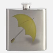 Yellow Umbrella Flask