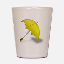 Yellow Umbrella Shot Glass