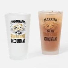 Married To An Awesome Accountant Drinking Glass