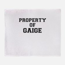 Property of GAIGE Throw Blanket
