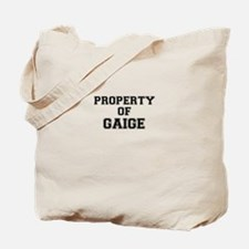 Property of GAIGE Tote Bag