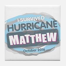 Hurricane Matthew Tile Coaster