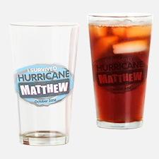Hurricane Matthew Drinking Glass