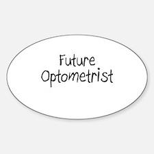 Future Optometrist Oval Decal