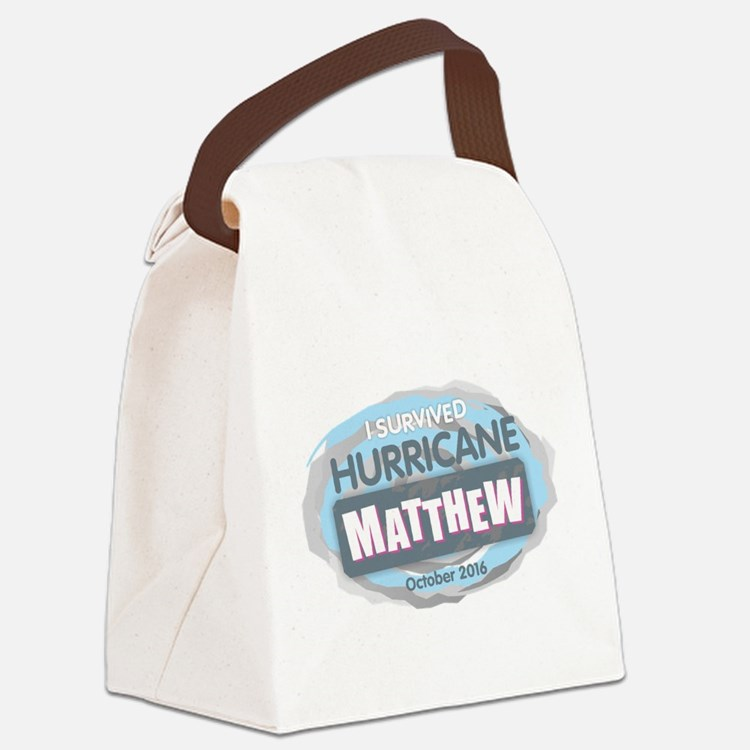 Hurricane Matthew Canvas Lunch Bag