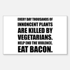 Vegetarians Eat Bacon Decal