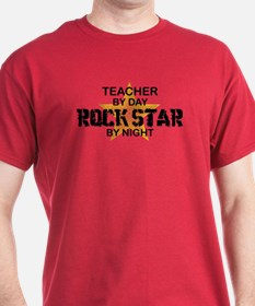 Teacher RockStar by Night T-Shirt