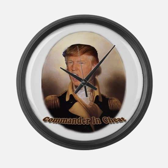 Commander In Cheat Large Wall Clock