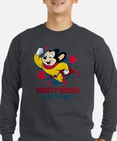 Mighty Mouse On The Way Long Sleeve T-Shirt
