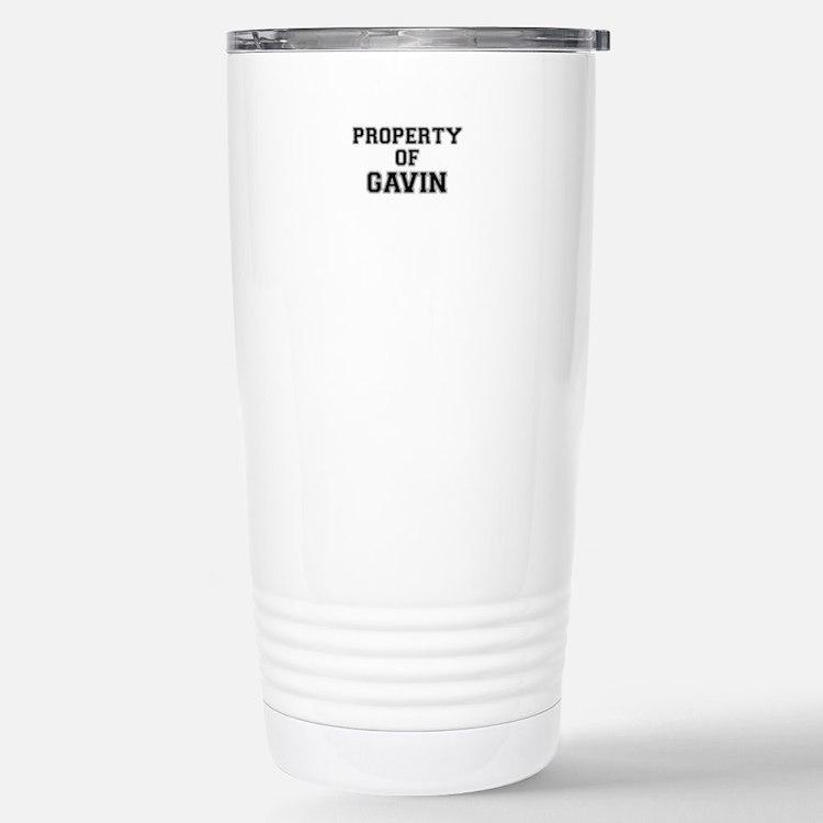 Property of GAVIN Stainless Steel Travel Mug
