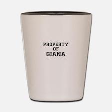 Property of GIANA Shot Glass