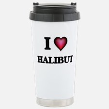 I love Halibut Stainless Steel Travel Mug