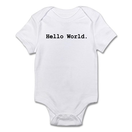 'hello world' baby bodysuit
