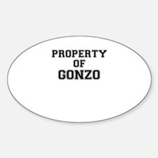 Property of GONZO Decal