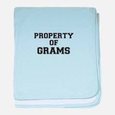 Property of GRAMS baby blanket