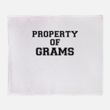 Property of GRAMS Throw Blanket