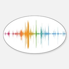 viyh soundwave horizontal Decal