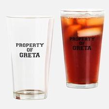 Property of GRETA Drinking Glass