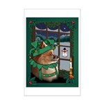 Cutest Pomeranian Christmas Dog Mini Poster Print