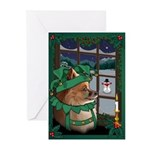 Cutest Pomeranian Dog Christmas Greeting Cards 20