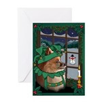 Cutest Pomeranian Dog Christmas Greeting Card