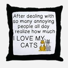 Unique Cat Throw Pillow