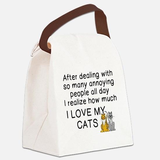 Cute Cat Canvas Lunch Bag
